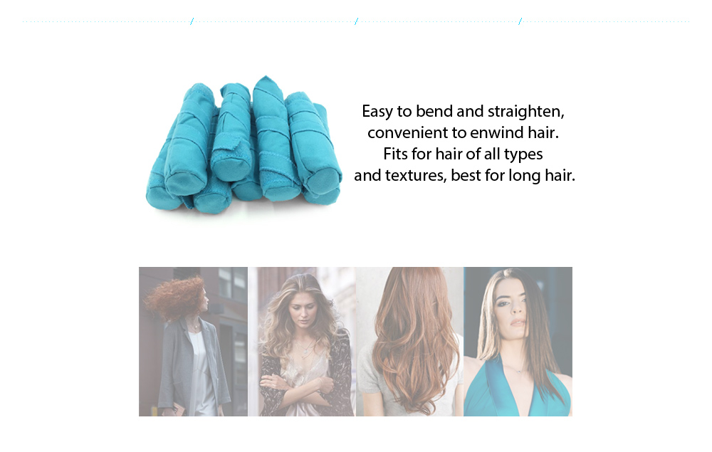 Flexible Foam and Sponge Hair Curlers Nighttime Roller for All Kinds of Hairstyles 8pcs