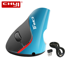 CHYI Wireless Vertical Mouse Ergonomic 1600DPI Optical Muase Rechargeable USB Computer Mice With Mouse Pad For Laptop Gamer PC