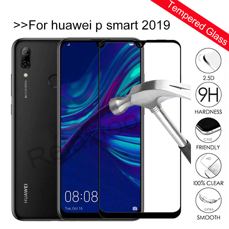 Full Cover Tempered Glass For Huawei P Smart 2019 Screen Protector On PSmart 2019 POT-LX3 POT-LX1 6.21 Inch Protective Glas Film