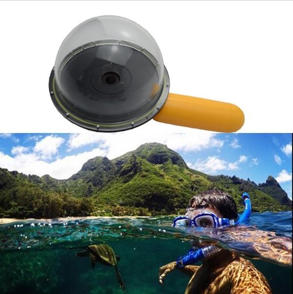 "6 ""dome porta para xiaomi xiaoyi yi action camera fotografia subaquática cúpula porta para tomar meia-in/meia-out fotos legais"