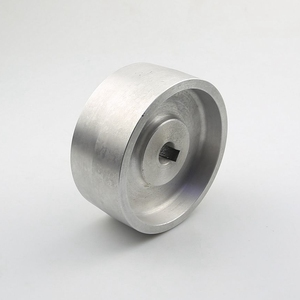 Image 2 - 130*55*19/24mm Fully Aluminum Contact Wheel Active wheel for belt machine with Keyway