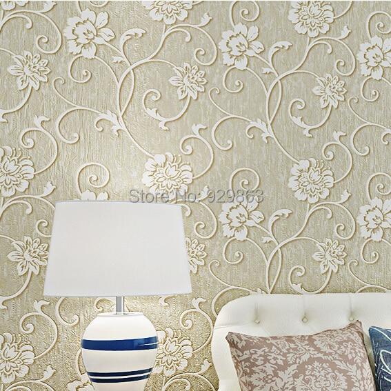 Vintage Home Decor Embossed Flocking Luxury Floral 3d