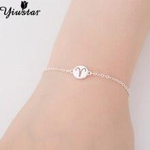 Yiustar 925 Silver Lovely Aries Bracelets for Women Simple 1