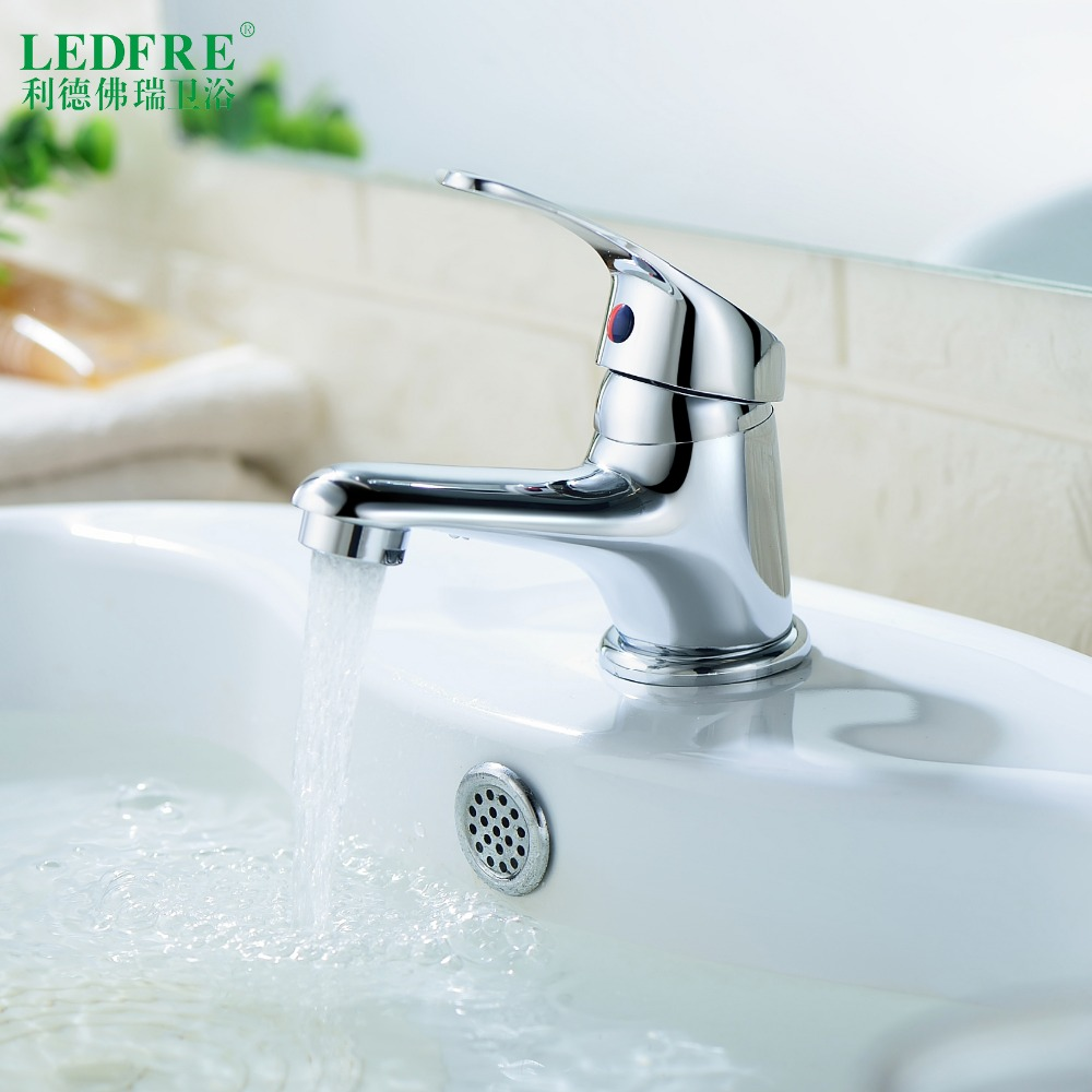 LF56A100 Single level Basin mix faucet water tap bathroom single handle cold and hot water hot cold tap bathroom mixer tap
