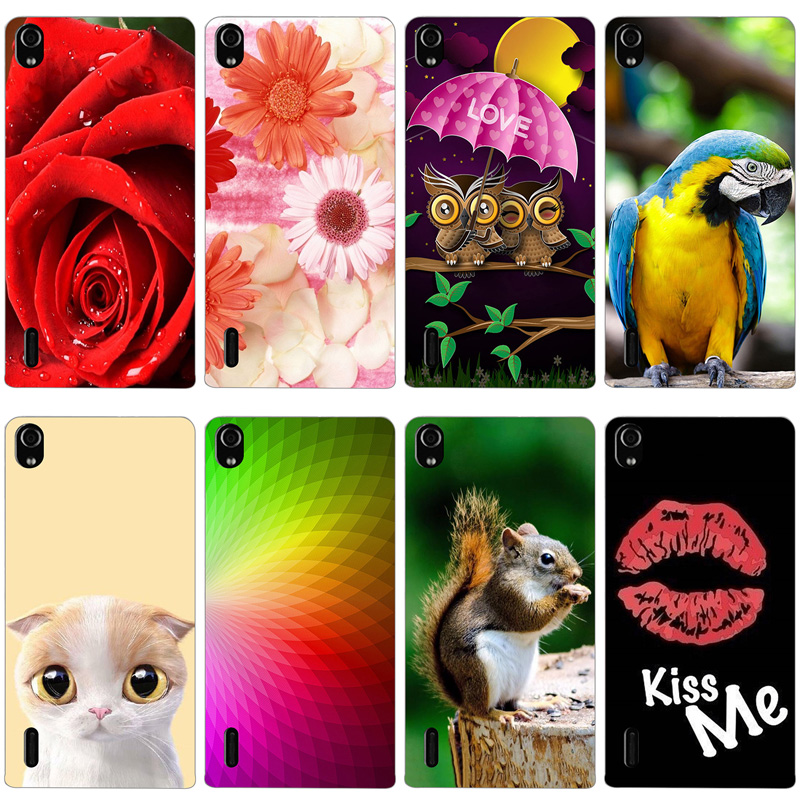 For Huawei Ascend P7 Case Silicone Soft TPU Back Cover On Huawei P7 P7-L10 P7-L00 P7-L05 P7-L11 Phone Cases Protector Bags