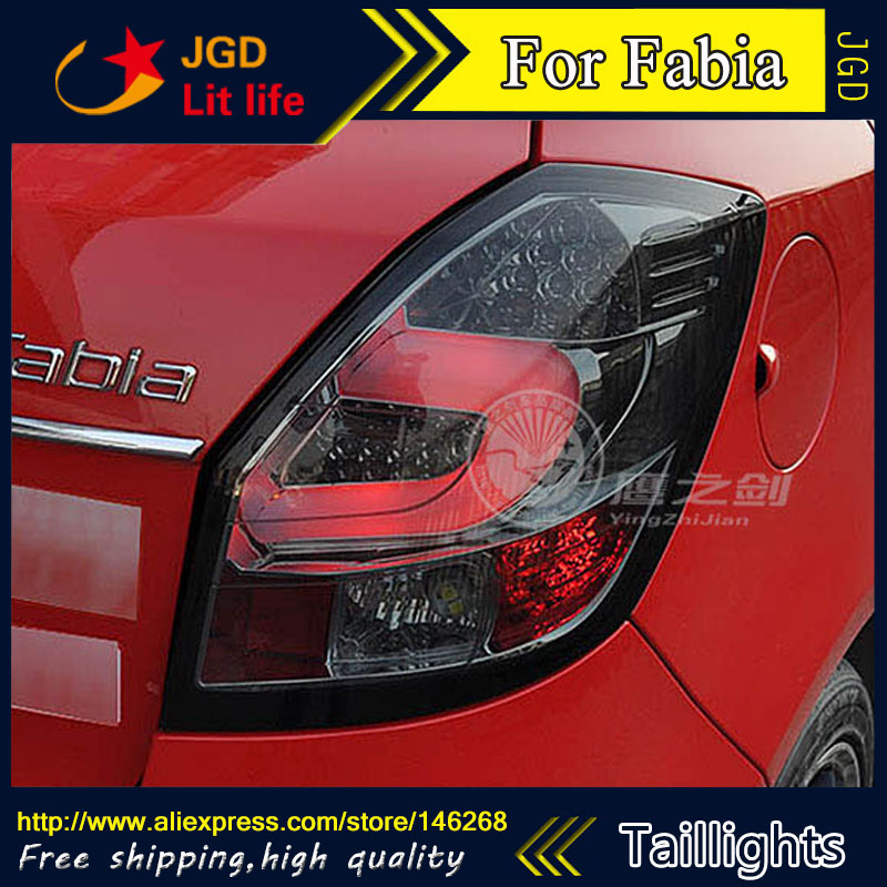 Car Styling tail lights for Skoda Fabia 2008-2012 LED Tail Lamp rear trunk lamp cover drl+signal+brake+reverse car styling led tail lamp for honda accord 8 tail lights 2008 2012 for accord rear light drl turn signal brake reverse led light