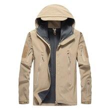 Tactical Jacket Men Military Fleece Warm Jacket Army SWAT Combat Soft Shell Waterproof Outerwear Clothing Winter Hooded Coat