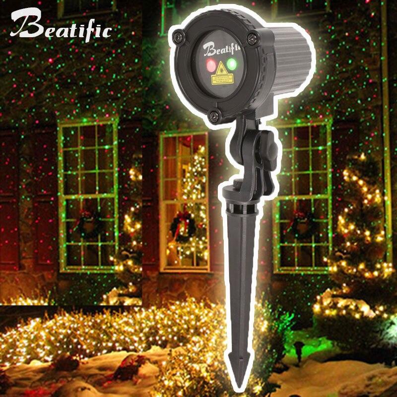 a laser luzes do jardim de natal ao ar livre ano novo s bens lampada do