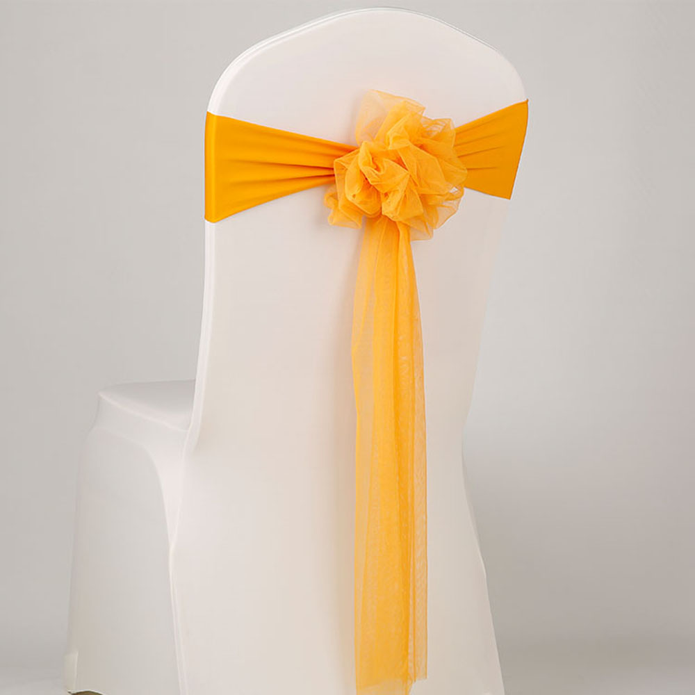 Chair Sashes Stretch Band Sash Bow Wedding Birthday Banquet Decor 50 pcs
