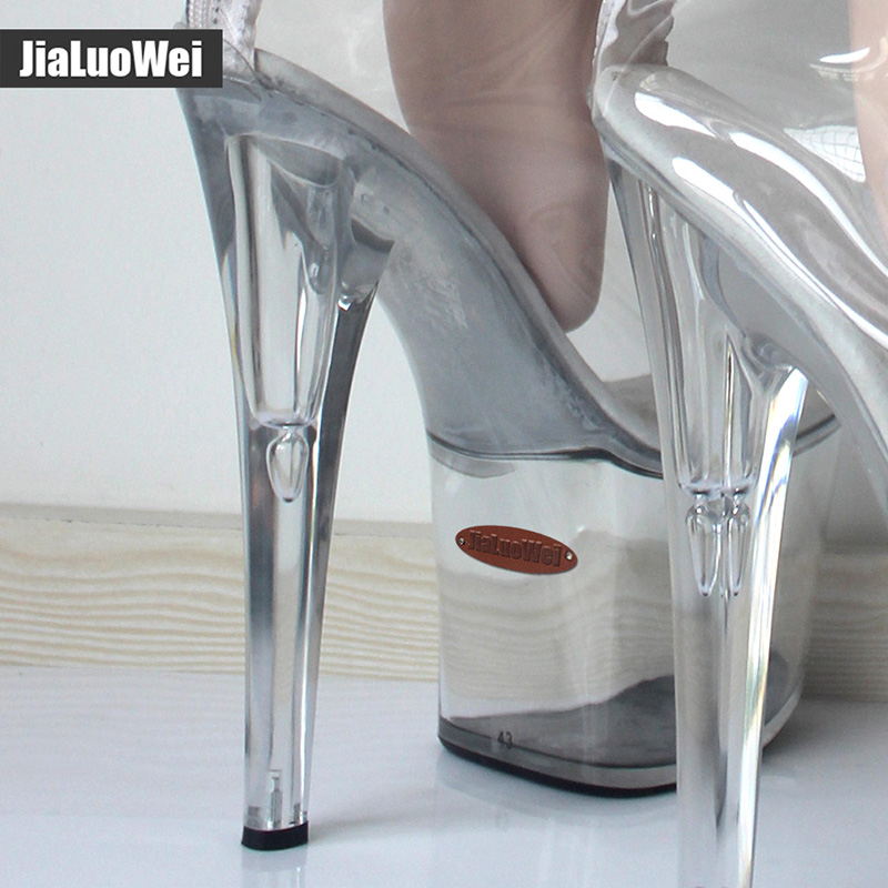New! Over-The-Knee Thigh Long Boots Transparent Clear PVC Boots Women Sexy Fetish 20cm High Heel 9CM Platform Crotch High Boots