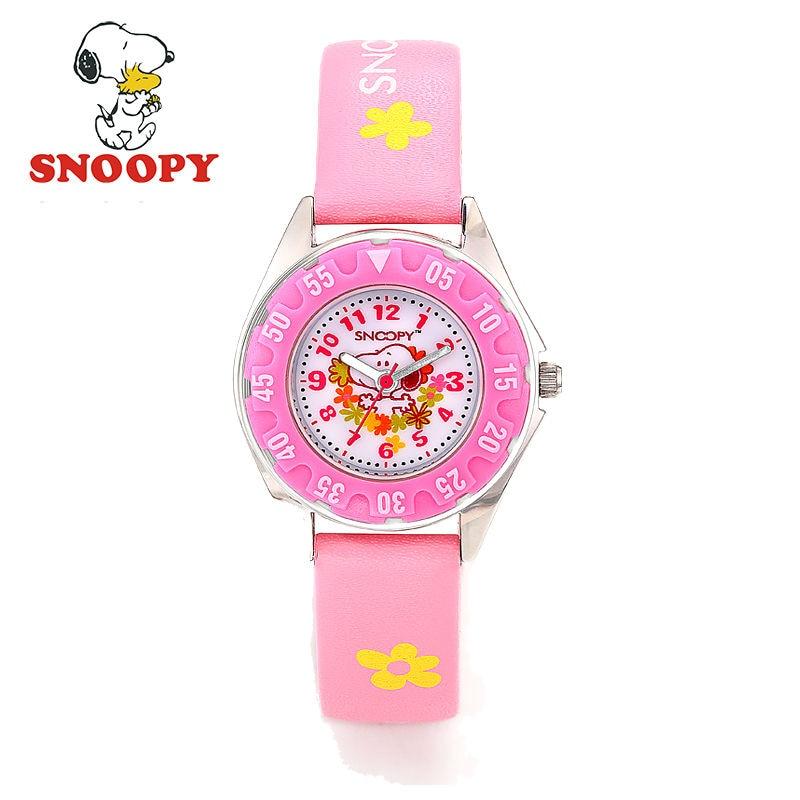 Snoopy Kids Watch Children Watch Casual Fashion Cute Quartz Wristwatches Girls Waterproof Clock