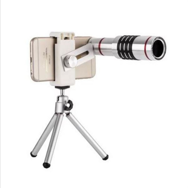 Universal 18X Zoom Phone Telescope Telephoto Camera Lens + Tripod for iphone 8 7 Samsung Galaxy S8 S7 edge S8 Plus oneplus 3t 2