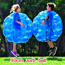 цена на 60/90cm Zorb Ball PVC Blue/Red Inflatable Bubble Soccer Zorb Ball/pump for Children Adult Family Outdoor Game Sports Toy Ball