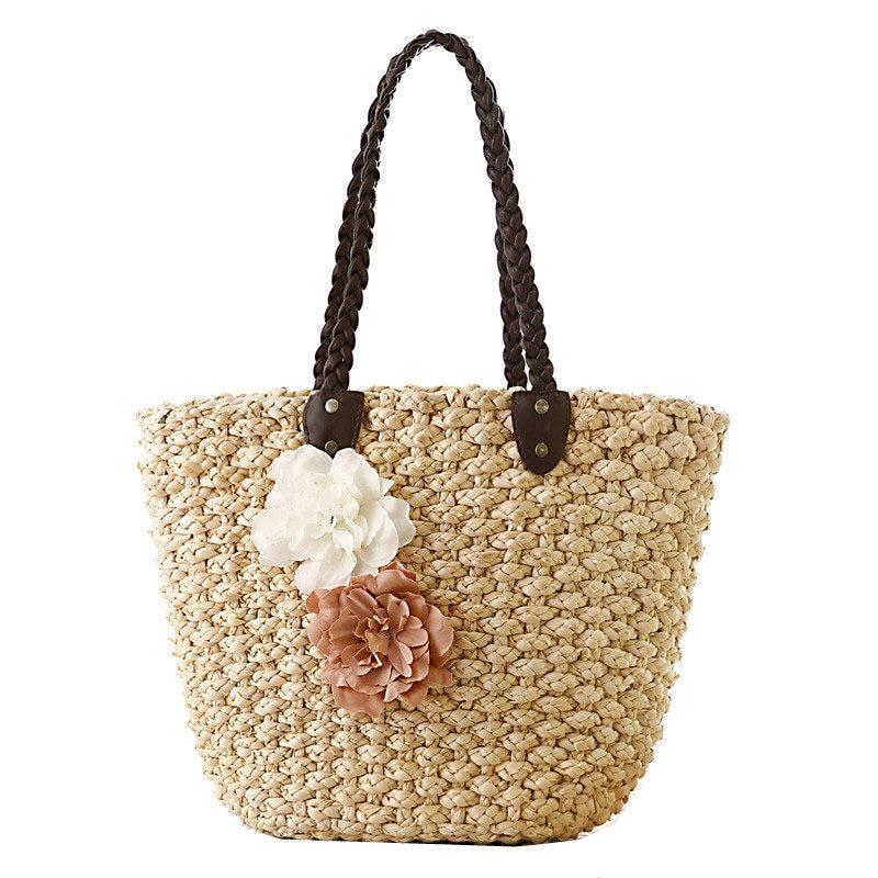 2017 Bohemia Beach Bags Summer Knitted Straw Bags Handmade Woven Tote Women Trav
