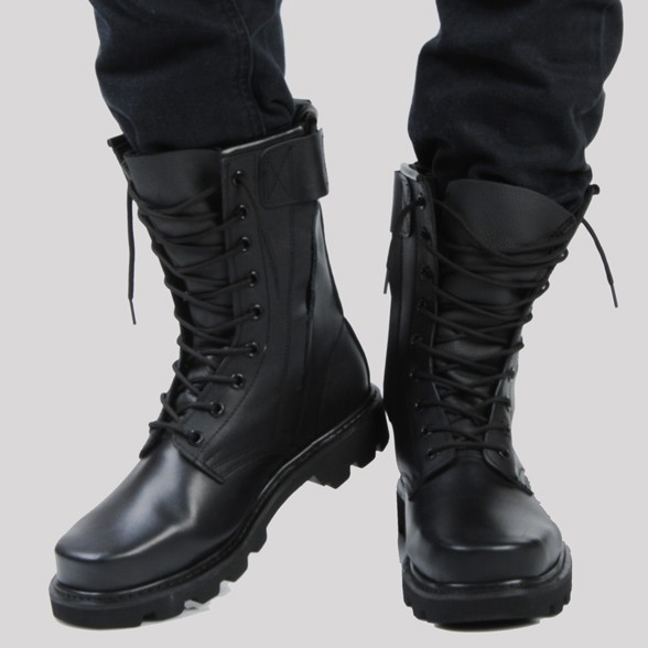 195aca797b5430 Mens combat boots 2015 mens casual martin boot genuine leather tooling  boots black plus size male outdoor shoes EUR 37-48