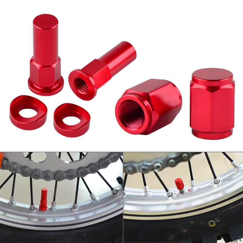 Rim Lock Nuts Bolts Spacer Valve Cap For <font><b>Honda</b></font> CB <font><b>CBR</b></font> 1000 600 F4I F4 F2 F3 <font><b>600F</b></font> 650F 1000RR RR 250R 500 400 Motorcycle Parts image