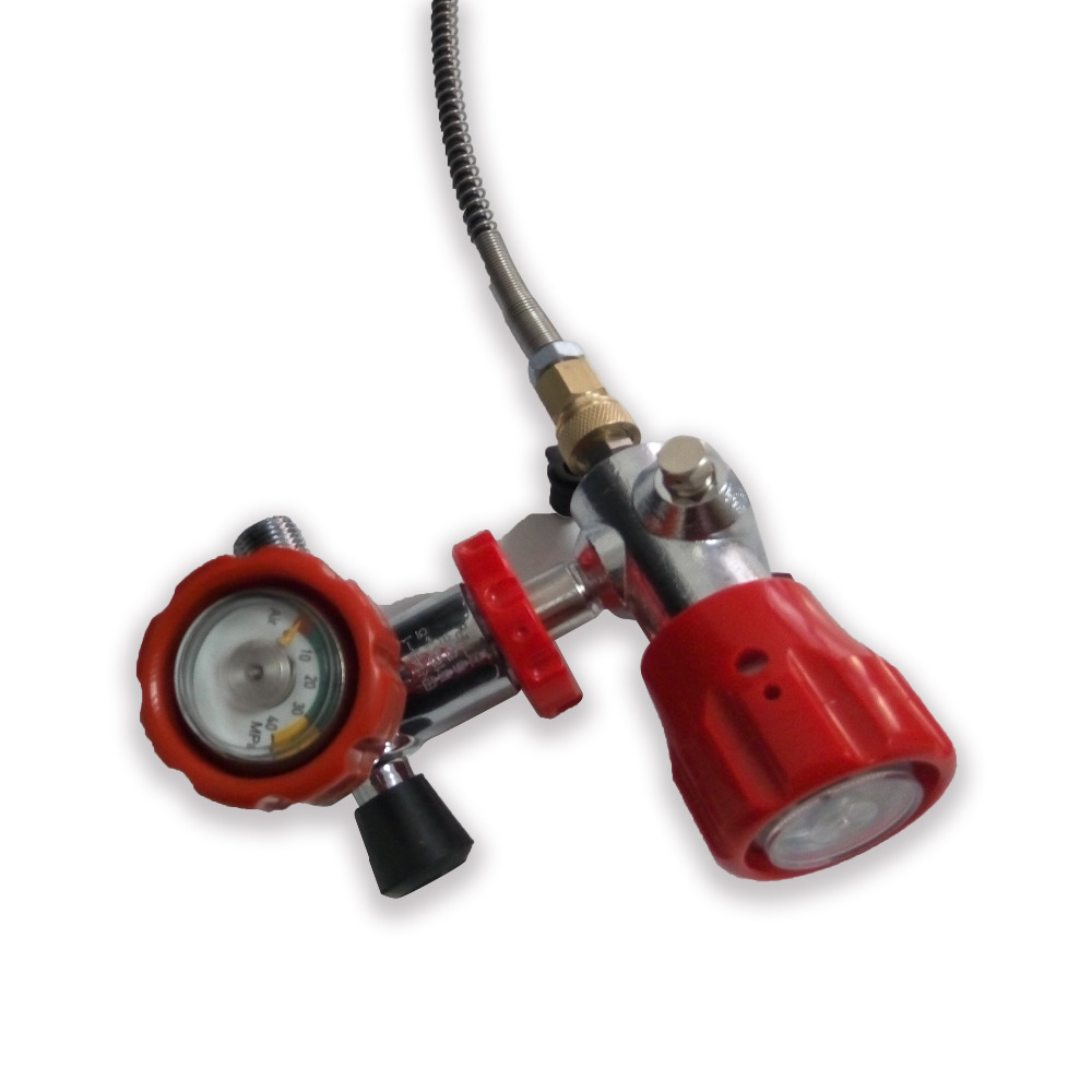 AC101 High Quality PCP Scuba Diving Red Valve And Filling Station  For Carbon Fiber Cylinder To Paintball Small HPA Tank