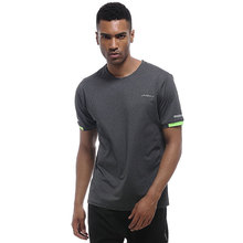 UABRAV Mens Gym Shirt Short Sleeve Summer Breathable Loose Running Jersey Fitness Sport T Shirts with Reflective Stripe