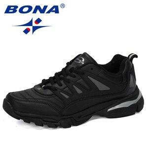 Image 5 - BONA 2019 New Designer Men Running Shoes Cow Split Krasovki Lace Up Non Slip Sport Shoes Men Sneakers Men Zapatillas Hombre Shoe