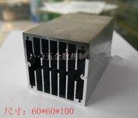 CPU radiador de aleación de aluminio 60*60*100 / 93*93*100MM componentes electrónicos de aluminio disipador de calor de aluminio disipador de módulo