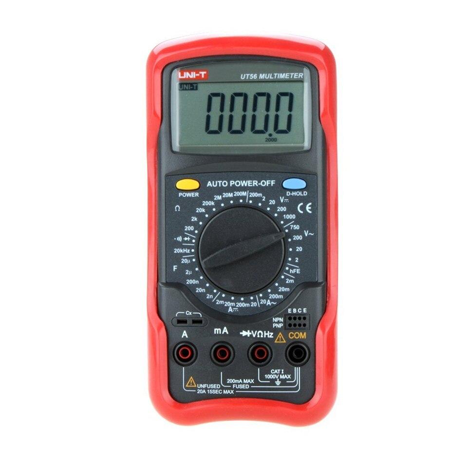 UNI-T UT56 19999 Display 1000V 20A DMM AC DC Voltmeter Resistance Capacitance Frequency test multi meter my68 handheld auto range digital multimeter dmm w capacitance frequency