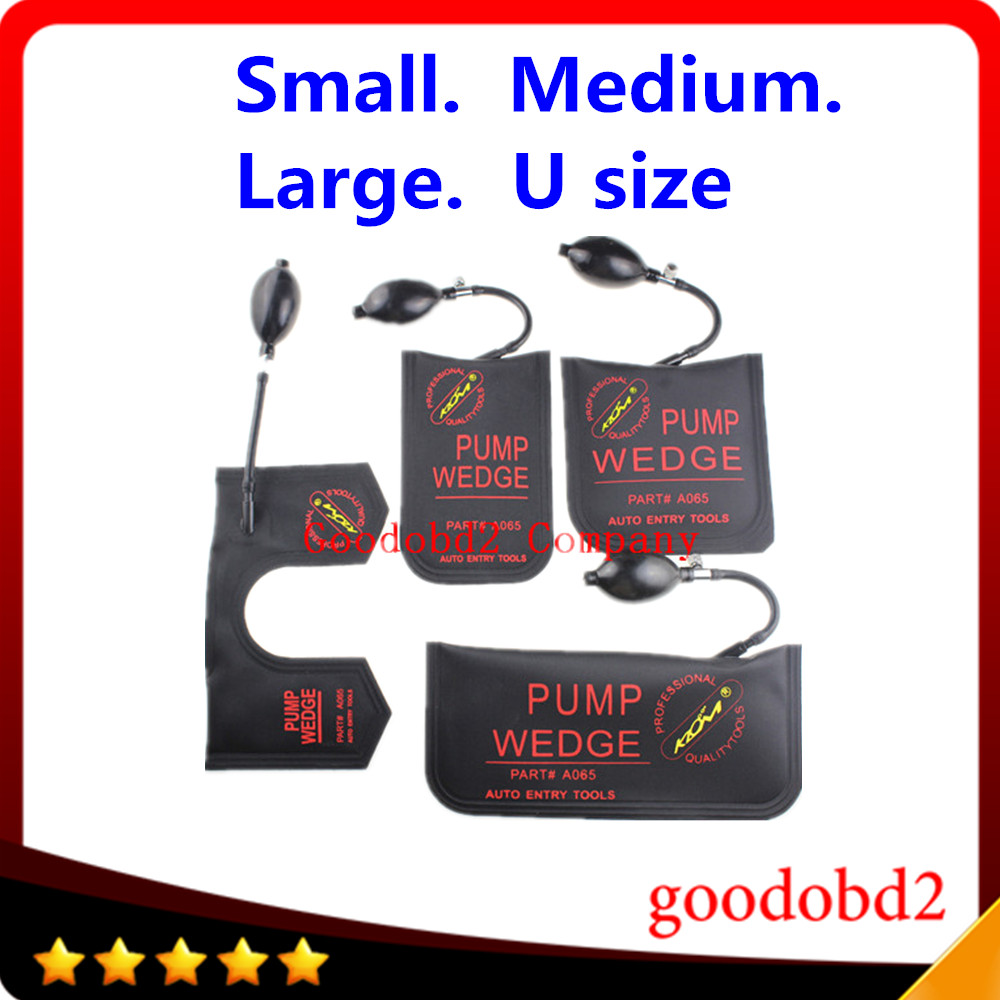 KLOM PUMP WEDGE Airbag New for Universal Air Wedge locksmith tools lock pick set open car door lock black colour 4pcs/lot airbag inflator airbag cover pump used - title=