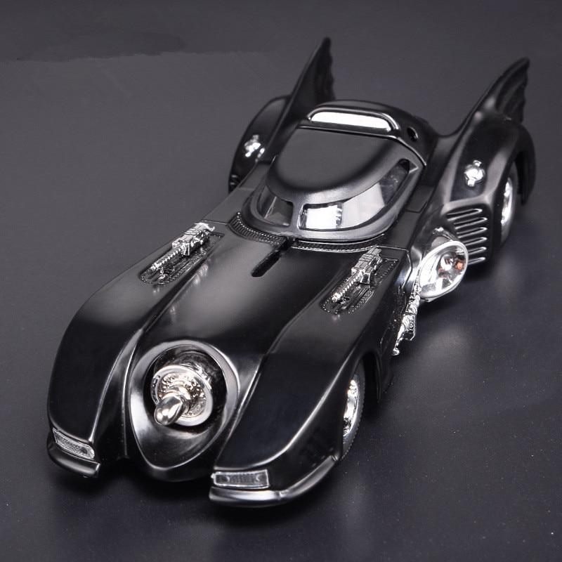 Sale High Simulation Black Classic Bat Classic Car Model,1:32 Scale Alloy Pull Back Batman Chariot Model Toy,free Shipping