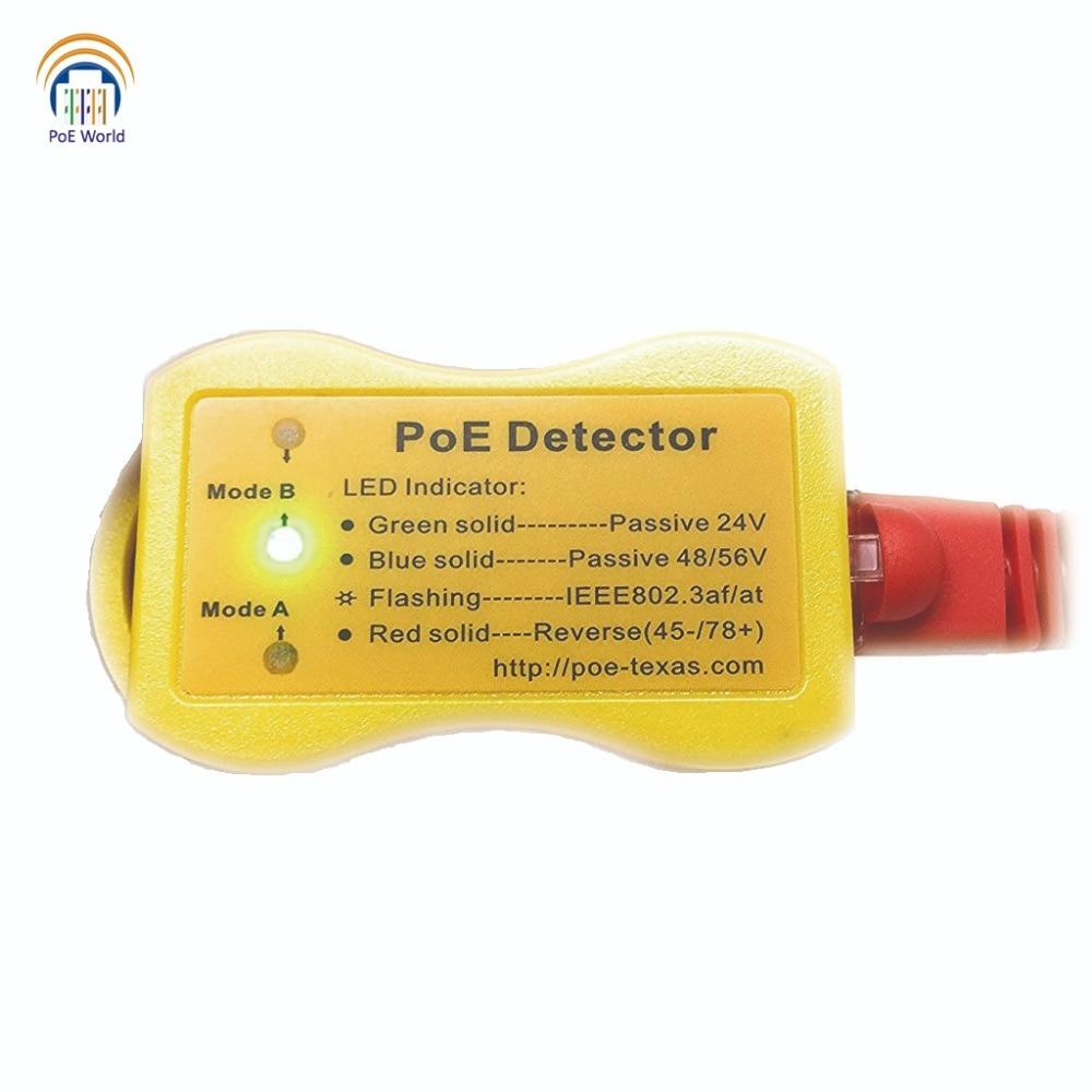 Image 2 - PoE Detector PoE Tester Quickly identify Power over Ethernet with RJ 45; LED Display indicates passive /802.3af/at; 24v/48v/56v