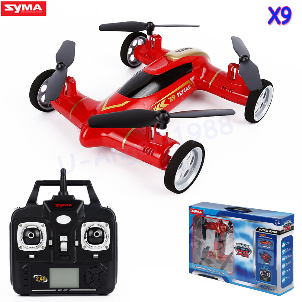 Original Syma X9 / x9s Fly Car <font><b>2</b></font>.4G 4CH Remote Control RC Quadcopter Helicopter Drone Land / Sky <font><b>2</b></font> Function in <font><b>1</b></font> UFO VS x5c x5sw