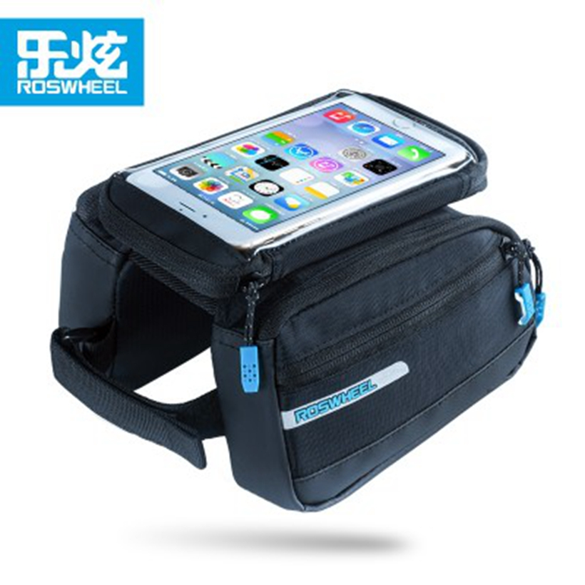 ROSWHEEL Bike Bicycle tube bag pack 5.5 inch touch screen mobile phone Cycling Basket Cycle Bags Case Bicycle <font><b>Accessories</b></font>
