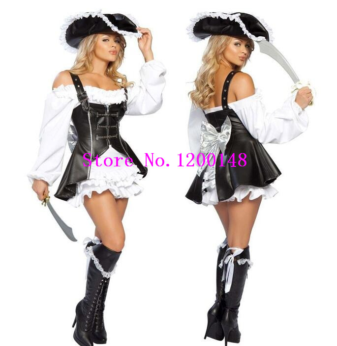 9b16b25b02ddf Best Price Sexy Women Pirate Costume Halloween Fancy Party Dress ...