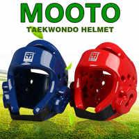 MOOTO Taekwondo Helm Erwachsene Kinder kopfbedeckungen gesicht Schutz Safety Helm Kickboxen kopf schutz WTF genehmigen Karate Helme Rot
