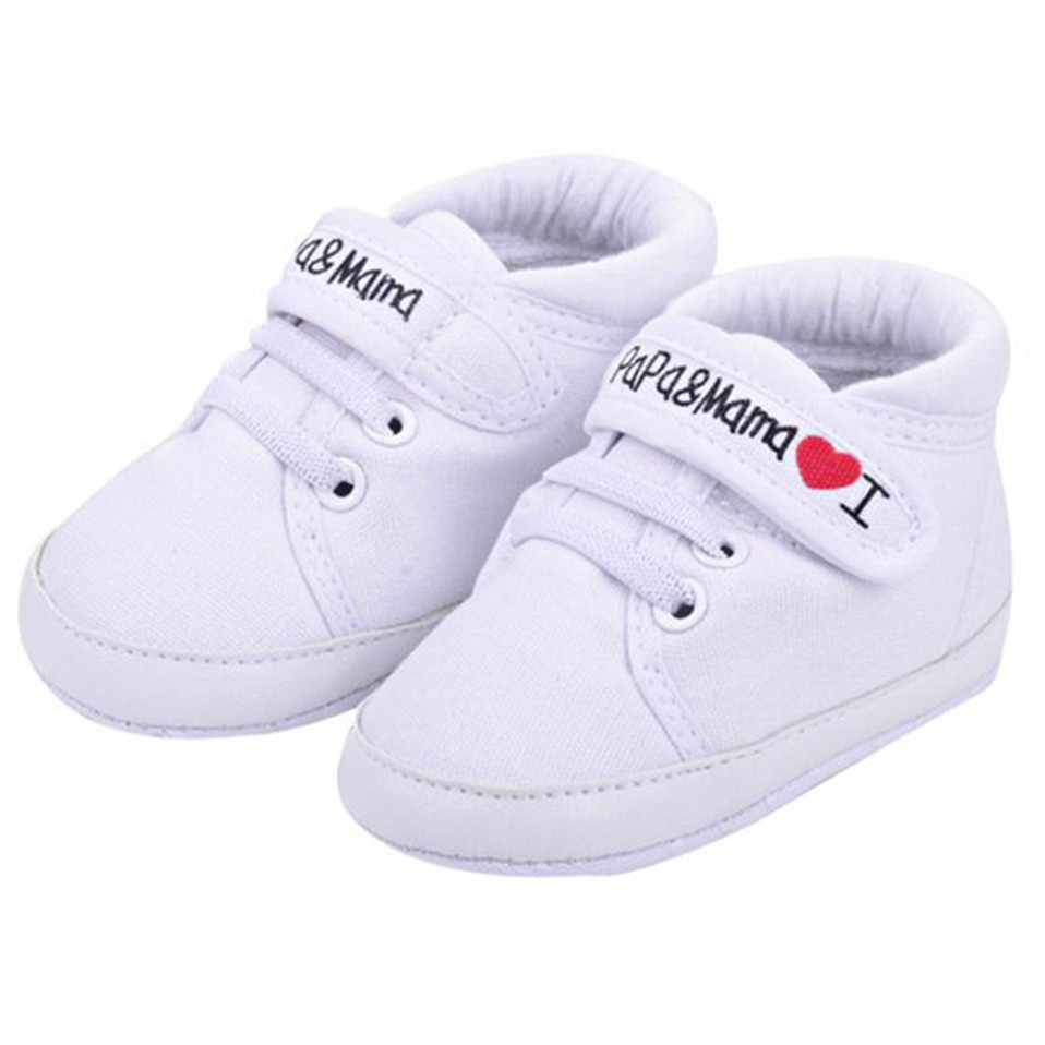 Newborn Baby Shoes Unisex First Walkers 0-18M Toddler Newborn Shoes Baby Infant Kids Boy Girl Soft Sole Canvas Sneaker