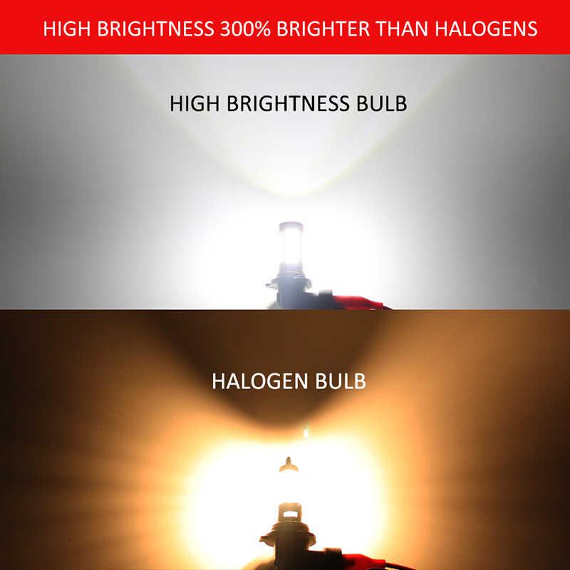 GZKAFOLEE 2 x pcs H7 Car Fog lamp H4 LED Bulb H8 H9 H11 H16(JP) 9005 9006 HB3 HB4 4014 CHIP 106 SMD 6000K 3600LM