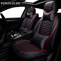 KOKOLOLEE pu car seat cover for honda accord civic 2018 fit honda jazz city auto accessories car styling car seat protector