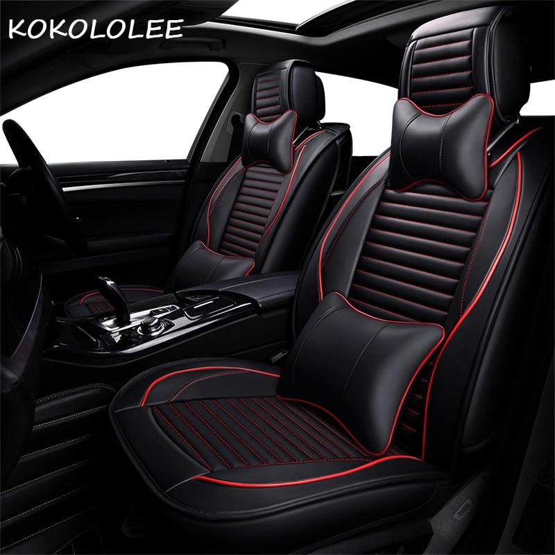 KOKOLOLEE Pu Car Seat Cover For Honda Accord Civic 2018
