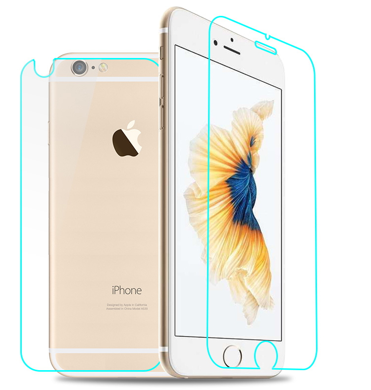 HD Clear Tempered Glass Film Coque For iPhone 4 4S 5 5S SE 6 6S 7 Plus X 8 Case Protective Film +Tools Front + Back