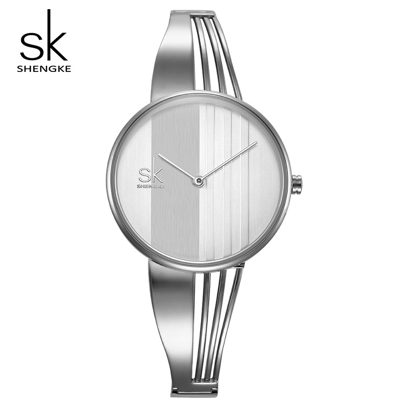 Shengke Fashion Women Watches Luxury Quartz Clock Female Wrist Watch Relogio Feminino 2018 SK Creative Ladies Bracelet Watches zivok fashion brand women watches luxury red lovers bracelet wrist watch clock women relogio feminino ladies quartz wristwatch