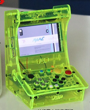 loyoyogame green street arcade Pocket 3.5 inch HD IPS LCD Raspberry Pi 3 + 32G card Recalbox system mini arcade game