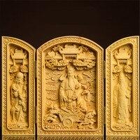 Handmade Opened Boxwood Carving Buddha Maitreya Fulushou Ksitigarbha Avalokitesvara Statues Buddism God Guanyin Bodhisattva