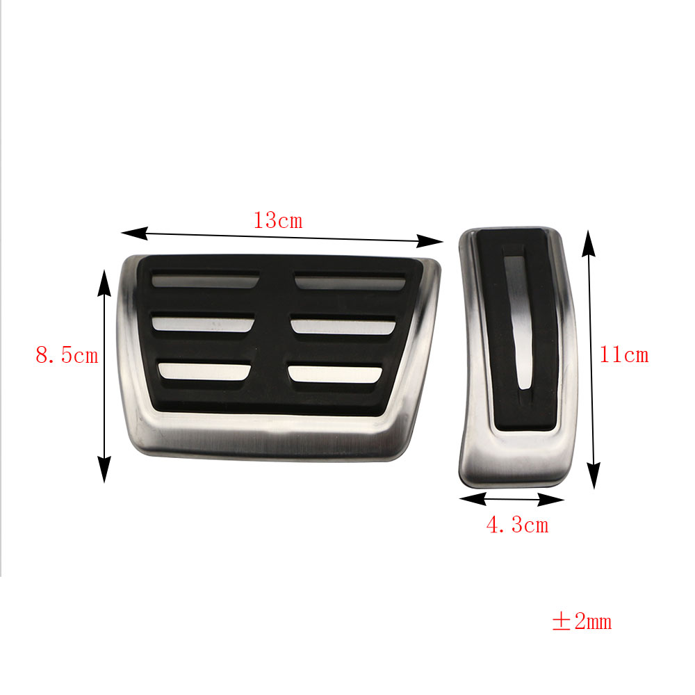 Jameo Auto Stainless Steel AT Car Pedal Cover Car Pedals