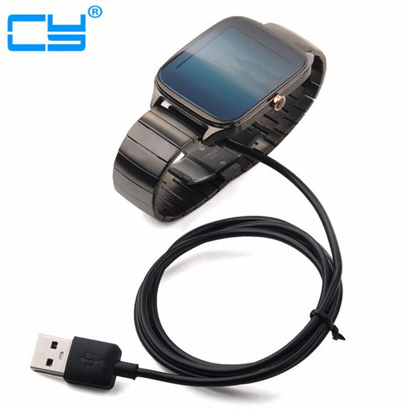 New USB Charging Cable for ASUS ZenWatch 2 WI501Q WI502Q Smartband Smart Watch usb charging cable for pebble steel 2 smart watch black red