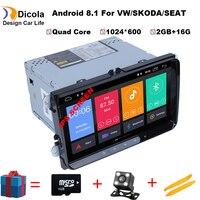 9 4 ядра Android 8,1 ips автомобиль dvd для vw passat b7 b6 Гольф 5 Поло tiguan octavia rapid fabia с gps навигация радио