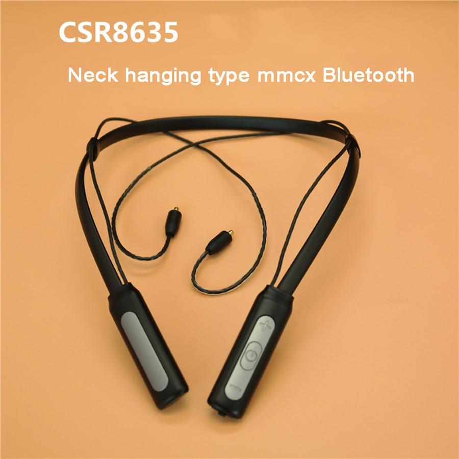 Neck Hanging MMCX Bluetooth Cable CSR8635 Waterproof Upgrade Sport Line for SE215 SE535 SE846 UE900 W10 W40 Earphone Headset