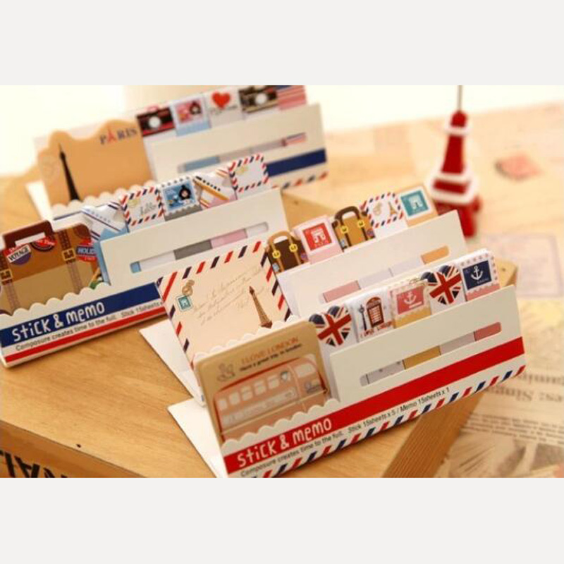 AF31 Kawaii British Style & Animals Mini Memo Pad Notepad Note Book Sticky Notes Bookmark