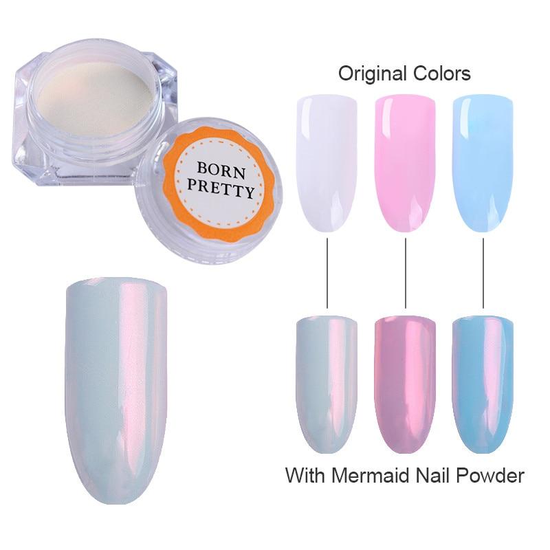 Mermaid Pearl Shell Nail Glitter Powder Glimmer Nail Art Pigment Shimmer Dust Powder Manicure UV Gel
