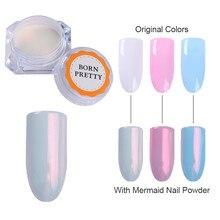 Sirena de La Perla Shell Polvo Del Brillo Del Brillo Del Arte Del Clavo Pigmento Polvo Shimmer Powder Manicura UV Gel Decoración de Uñas de Arte