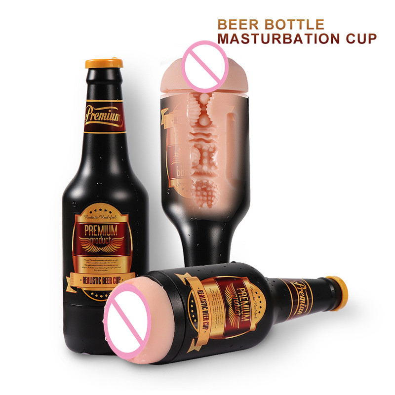 Male Masturbations Cup Vaginas Pussy Manual Beer Bottle Aircraft Cup Multi-Frequency Vibration <font><b>Sex</b></font> Machine <font><b>Sex</b></font> <font><b>Toys</b></font> for Men B69 image