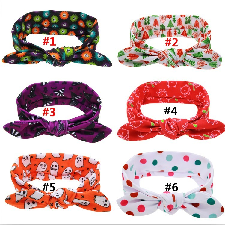 30 pcs / lots , halloween cotton headband , messy headband rabbit ear for headband