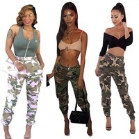 Almagores Punk Sweatpants Women Pants Joggers Casual Camo Baggy Lady Trousers Pockets Femme ArmyGreen Camouflage Pantalon Mujer